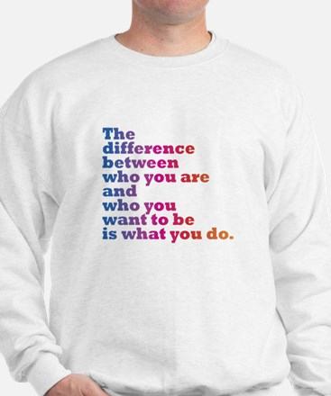 The Difference (blue/pink) Sweatshirt