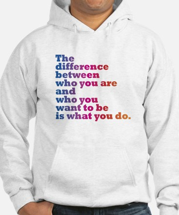 The Difference (blue/pink) Hoodie