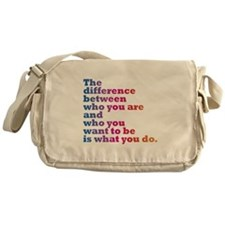 The Difference (blue/pink) Messenger Bag