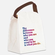 The Difference (blue/pink) Canvas Lunch Bag