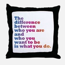 The Difference (blue/pink) Throw Pillow