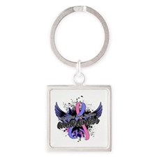 SIDS Awareness 16 Square Keychain