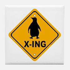 Penguin X-ing Tile Coaster