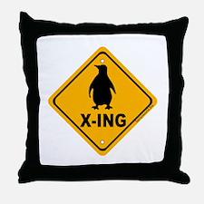 Penguin X-ing Throw Pillow