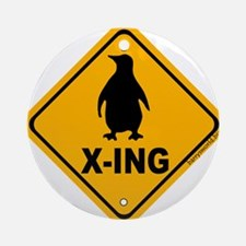 Penguin X-ing Ornament (Round)