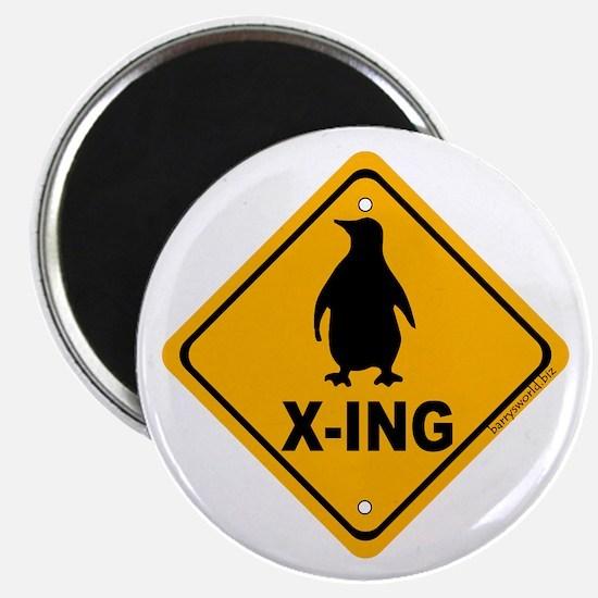 """Penguin X-ing 2.25"""" Magnet (10 pack)"""