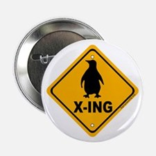 """Penguin X-ing 2.25"""" Button (10 pack)"""