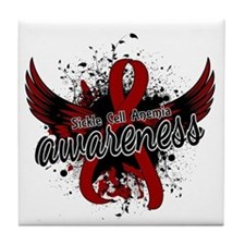 Sickle Cell Anemia Awareness 16 Tile Coaster