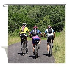 Bike riders on El Camino, Spain Shower Curtain