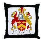 Rich Family Crest Throw Pillow