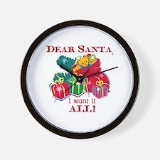 Want It All Santa Wall Clock