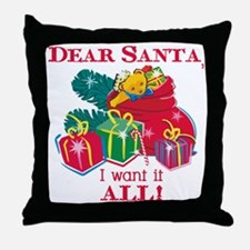 Want It All Santa Throw Pillow