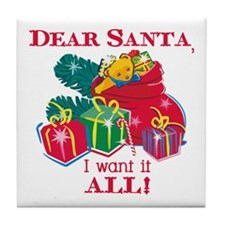 Want It All Santa Tile Coaster