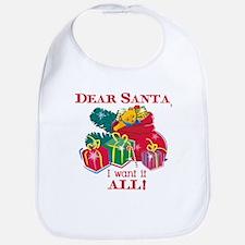 Want It All Santa Bib