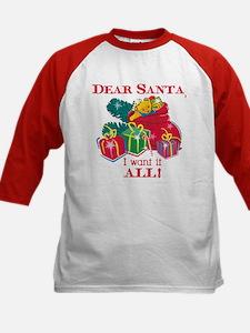 Want It All Santa Kids Baseball Jersey