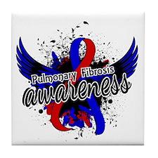 Pulmonary Fibrosis Awareness 16 Tile Coaster