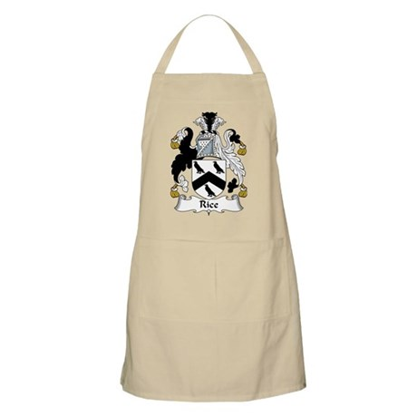 Rice Family Crest BBQ Apron