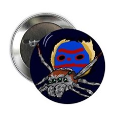 "Twerk Master Peacock Spider 2.25"" Button"