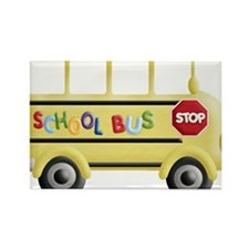 Cute Bus Rectangle Magnet (10 pack)