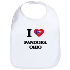 I love Pandora Ohio Bib