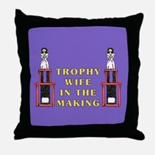 Trophy Wife Engagement Throw Pillow