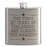 Funny 67th birthday Flasks