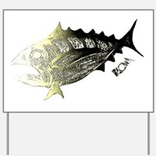 Gold Retro Tuna. Fish Retro Tuna RCM Wil Yard Sign