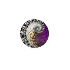 Fractal Abstract Purple Beautiful Mini Button