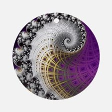 Fractal Abstract Purple Beautiful Round Ornament