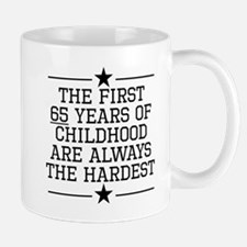 The First 65 Years Of Childhood Mugs
