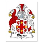 Rhodes Family Crest Small Poster