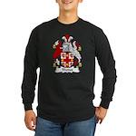 Rhodes Family Crest Long Sleeve Dark T-Shirt