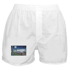 Starry Night Riverboat Boxer Shorts