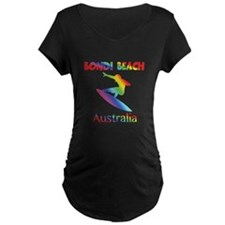 Bondi Beach Australia Surfer Maternity T-Shirt