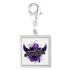 Pancreatic Cancer Awareness 1 Silver Square Charm