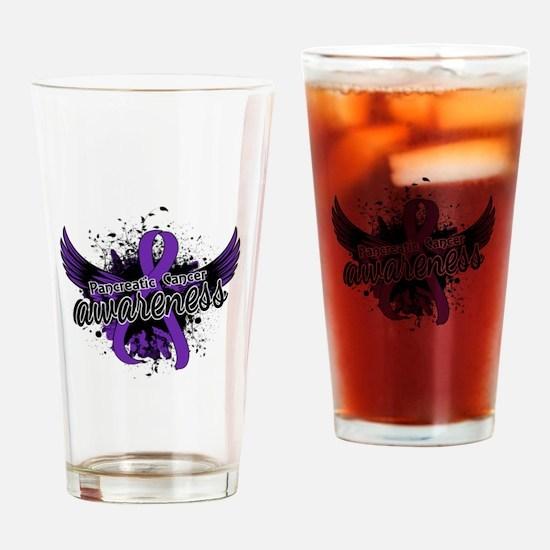 Pancreatic Cancer Awareness 16 Drinking Glass