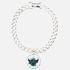 Ovarian Cancer Awareness Charm Bracelet, One Charm