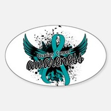 Ovarian Cancer Awareness 16 Sticker (Oval)