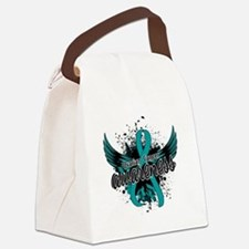 Ovarian Cancer Awareness 16 Canvas Lunch Bag