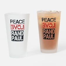 Peace, Love, Rand Paul Drinking Glass