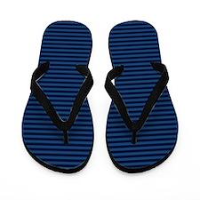 Monaco Blue Stripes Flip Flops