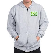 420 On Top of People Zip Hoodie
