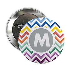 "Monogram Chevron 2.25"" Button (10 pack)"