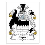 Reynell Family Crest Small Poster