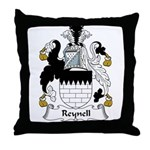 Reynell Family Crest Throw Pillow
