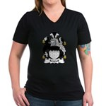 Reynell Family Crest Women's V-Neck Dark T-Shirt