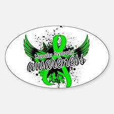 Muscular Dystrophy Awareness 16 Sticker (Oval)