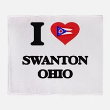 I love Swanton Ohio Throw Blanket