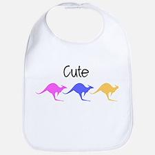 Cute Kangaroo Design Bib