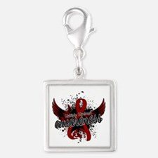 Multiple Myeloma Awareness 16 Silver Square Charm